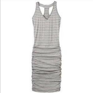 Athleta Gray Striped Racerback Tank Dress